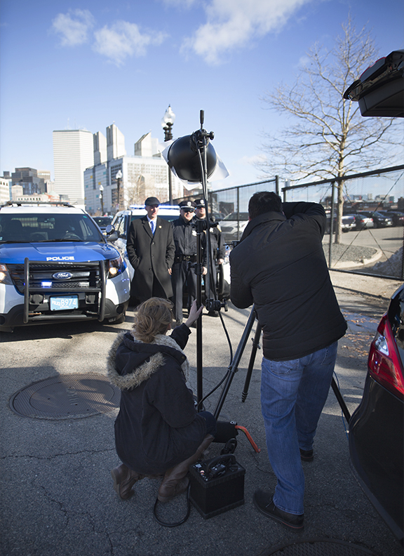 Michael Indresano Photographs Police Commissioner Bill Evans