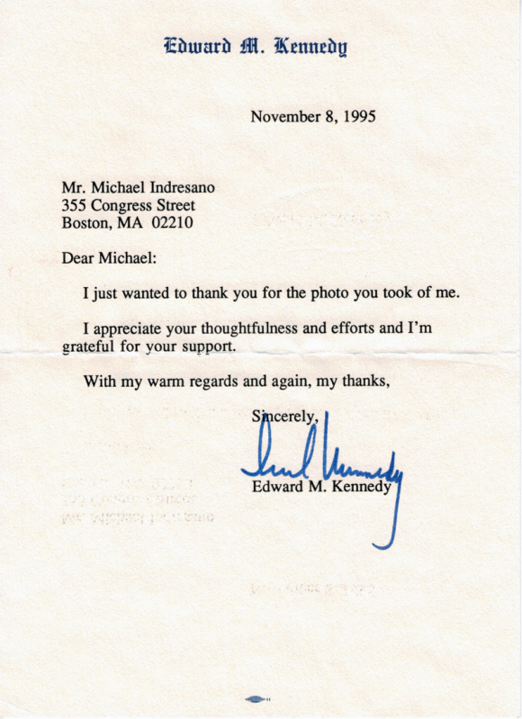 Ted Kennedy Letter