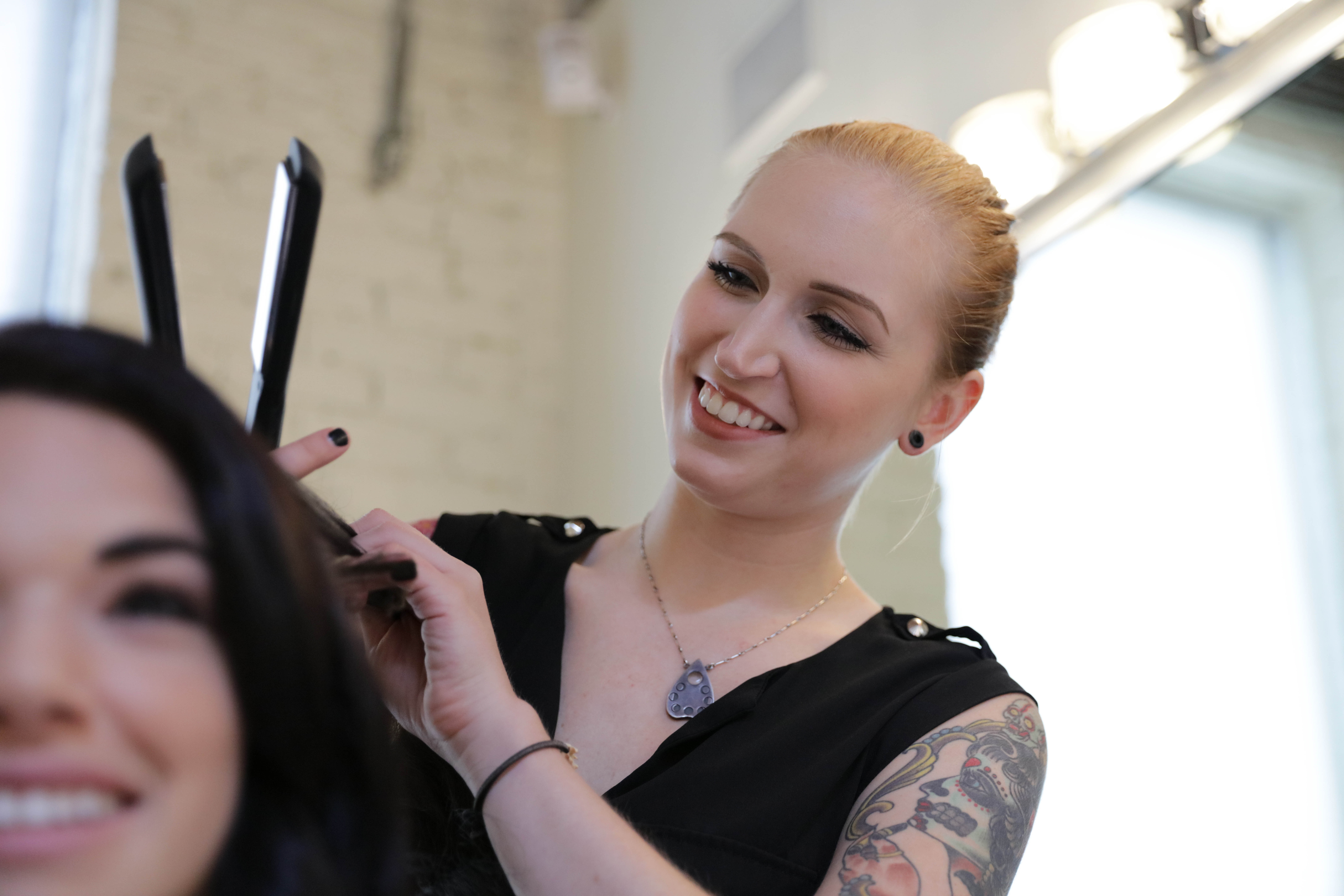 Image of Makeup Artist and Model