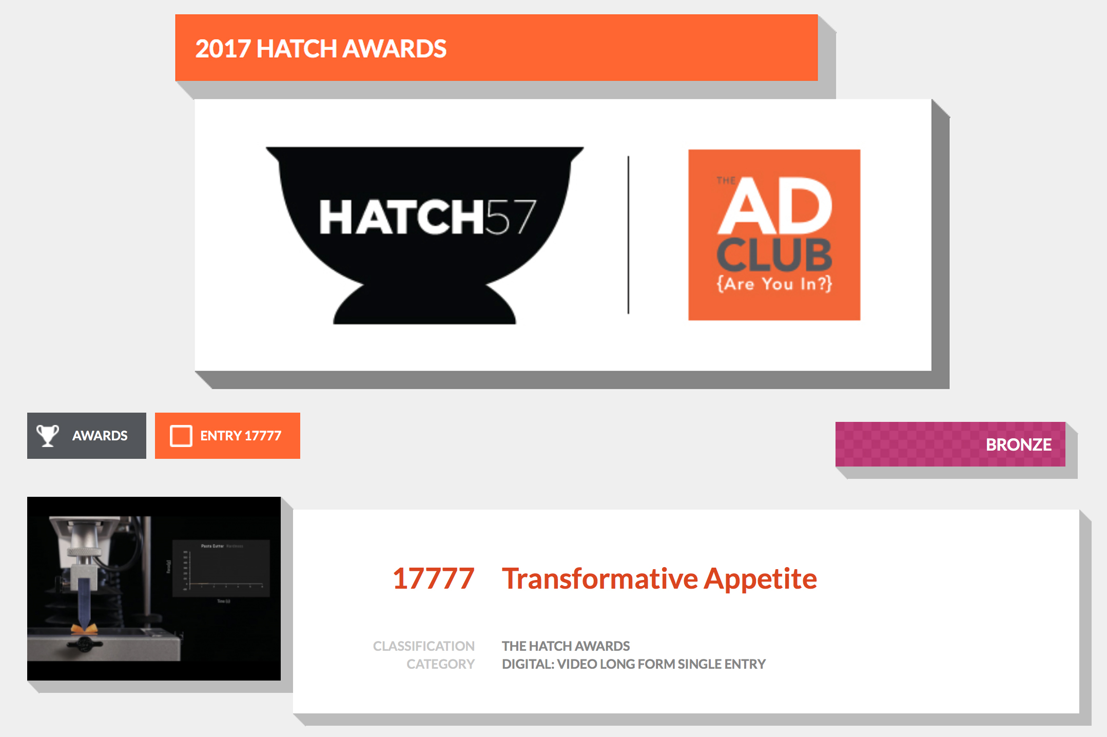 Hatch Awards, Boston Commercial Photography, Boston Food Photography, Boston Food Video, Boston Videographer